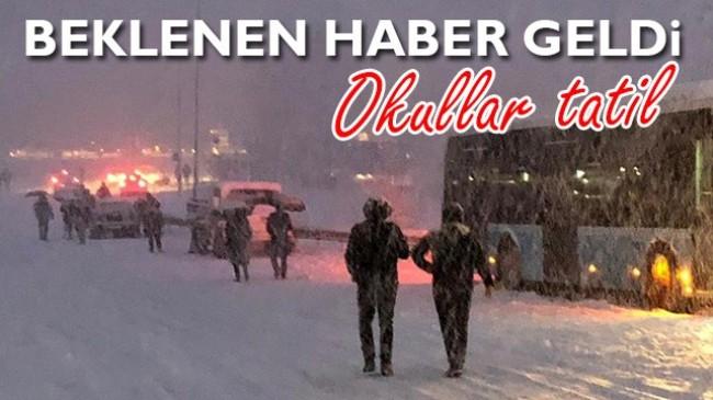 Hendekte yoğun kar yağışı nedeniyle bir gün tüm okullar tatil edildi