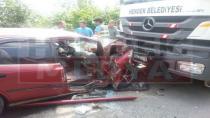 Hendek Kazımiye'de Kaza 3 Yaralı